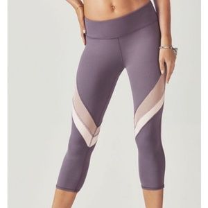 Fabletics purple mesh leggings